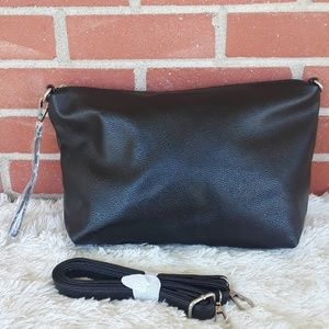 NEW faux leather convertible crossbody wristlet